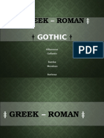 Greek Roman Gothic Architecture