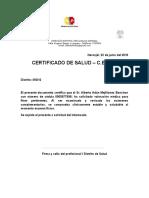 Certificado de Salud Genesis Ramos