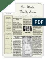 Newsletter Volume 7 Issue 30