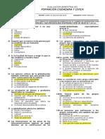 Examen Escrito para Formación Ciudadana