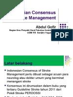 National Concencus of Stroke Management