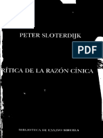 Critica de La Razon Cinica-p. Sloterdijk