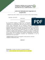 Leche de Magenesia - Informe - Cuanti 1