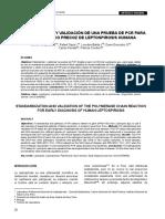 Estabdarizacion Pcr Para Leptospirosis