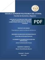 Análisis de Factibilidad Para La Implementación e Instalació