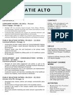katie alto resume