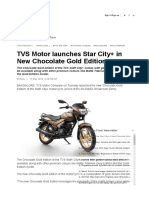 TVS Launches New Model Star City