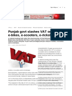 VAT rates on electric scooters, bikes and rickshaws- HP+UK+DEL+RJ+PB+HR
