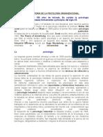 Breve Historia de La Psicología Organizacional