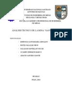 Informe Tecnico de La Minera Santa Lucia