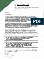Fremantle Trust ballot letter