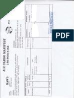 Manifest document