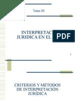 1.-  Interpretación Jurídica