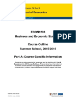 ECON1203 Business and Economic Statistics Part a Summer 2015-16