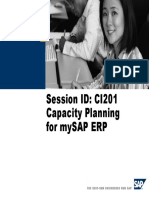 Capacity Planning SAPERP