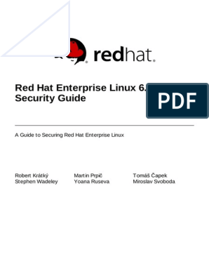 red hat enterprise linux 7 security guide