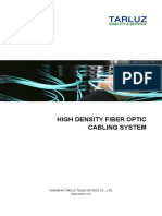 High Density Fiber Optic Cabling System