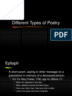 7 types of poetry