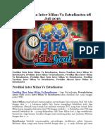 Prediksi Bola Inter Milan Vs Estudiantes 28 Juli 2016