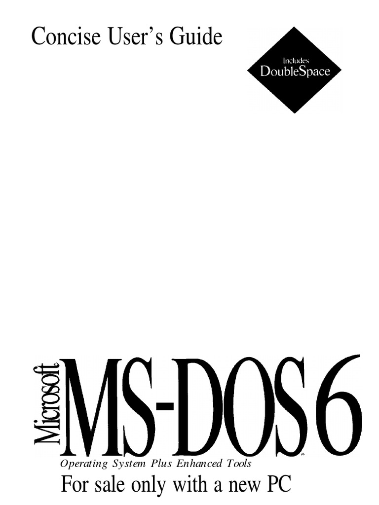 ms dos 6 concise user s guide pdf computer file command line