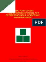 Credo For Success - The Enterpriship Model For Entrepreneurship, Leadership and Management