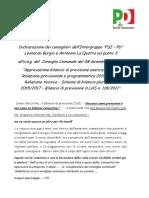 Dichiarazione Cons. Burgio Bilancio Previsione 2015 - PSI Sommatino