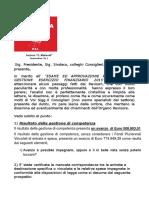 Dichiarazione Esame ed Approvazione Rendiconto Di Gestione Esercizio Finanziario 2015 - PSI Sommatino