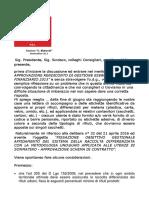 Dichiarazione Cons. Burgio su raccolta Uno@Uno - PSI Sommatino