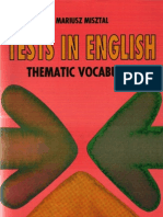 Tests in English Thematic Vocabulary