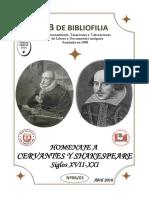 Catálogo homenaje a Cervantes y Shakespeare (s.XVII-XXI)
