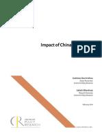 Impact of China Slowdown on India