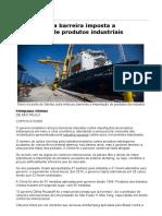 Brasil Reforça Barreira Imposta a Importação de Produtos Industriais - 22-07-2016 - Mercado - Folha de S