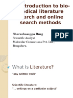 Introduction to bio-medical literature search and on-line   search methods Sharanbasappa Durg.pptx