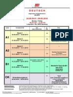 Deutsch Als Zweitsprache A1-B1 Integrationskurs IK 45 Ab 24.08.2015