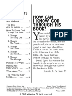 How Can I Know God Through His Book