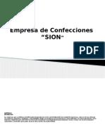 Diapositivas de La Empresa de Confecciones SION