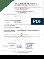 BAST - Penarikan Kabel PT. Javanice