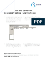 Biznet Metronet and Gamersnet - Connection Setting - Microtic Router