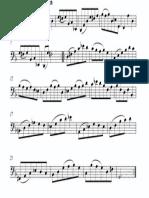 Partitura Minuet 2 Cello-suite Nº1 Bach