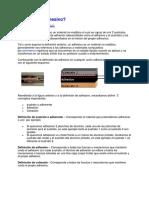 Adhesivos - Tipos - Clasificacion