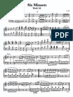 Beethoven Woo10 6 Minuets