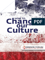 How to Change Our Culture