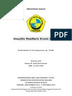 147952839 LAPORAN KASUS Sinusitis Maxillaris Kronis Dextra Dr Tris