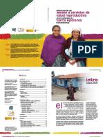 Acceso a Servicios de Salud Reproductiva - Sta Apolonia Chimaltenango