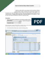 Sevice Entry Sheet Creation Manual