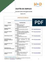 Boletín de Empleo Nº9 . Fundación H+D