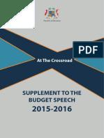 Budget Speech 2015-2016 - 1