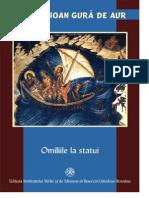 Sf. Ioan Gura de Aur Predicile despre statui II