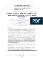 EFFECT OF STEEL AND POLYPROPYLENE FIBER ON MECHANICAL PROPERTIES OF CONCRETE