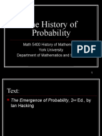 Probability History